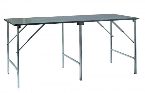 Arbeitstisch Edelstahl 200 x 80 cm