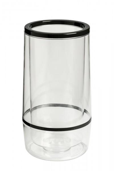 Flaschenkühler transparent Ø 12 cm