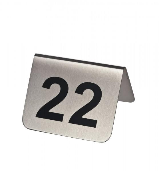 Tischnummernschilder 25-36