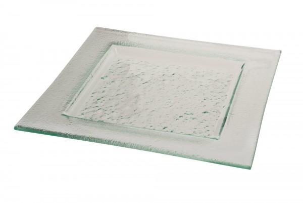 Glasteller VETRO 26 x 26 cm