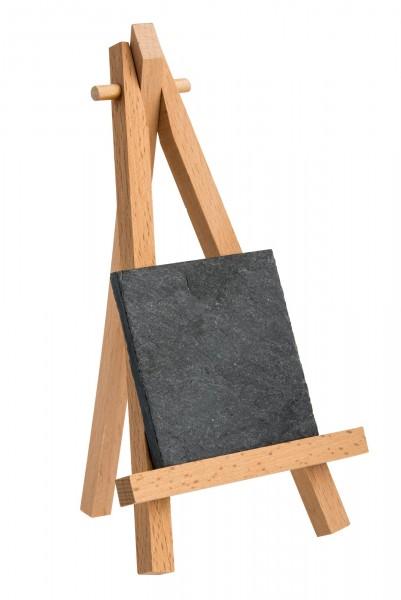 Tischkärtchen Schiefer 6x6 cm für Mini-Staffelei